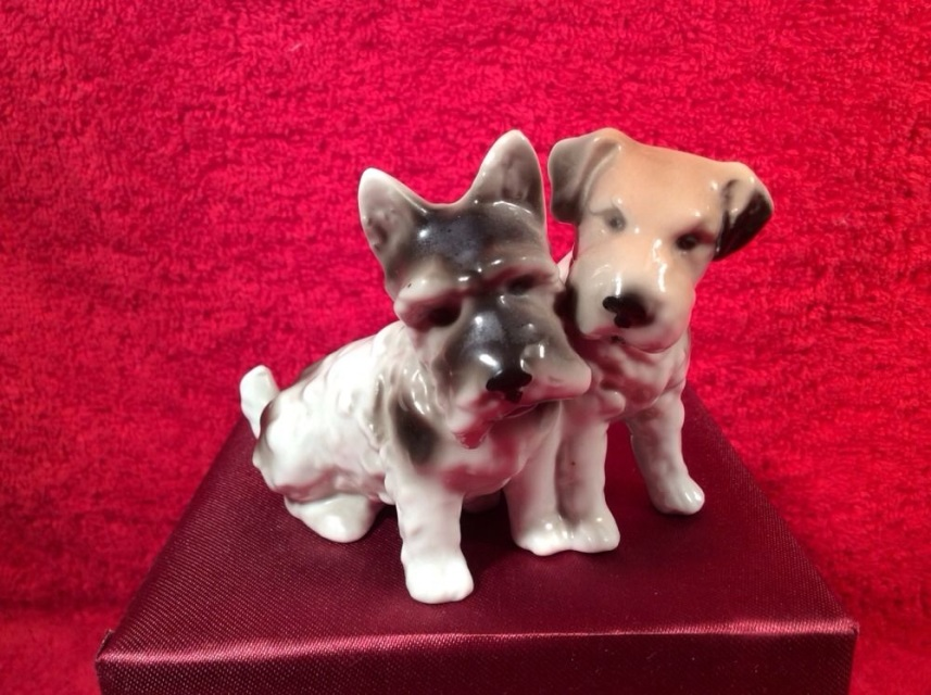 Antique German Porcelain Scotty Jack Russel Terrier
